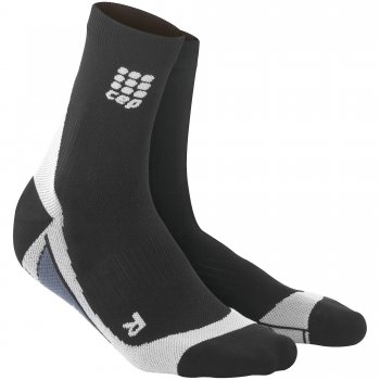 CEP Run 2.0 Short Cut Compression Socks Damen | Black Grey