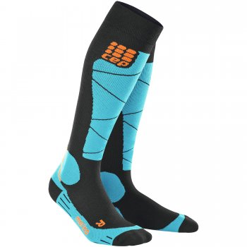 CEP Ski Merino Compression Socks Herren | Black Azur