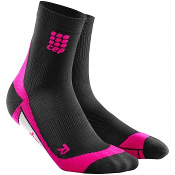 CEP Run 2.0 Short Cut Compression Socks Damen | Black Pink