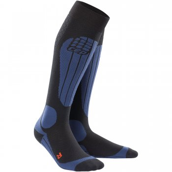 CEP Ski Thermo Compression Socks Herren | Black Deep Blue