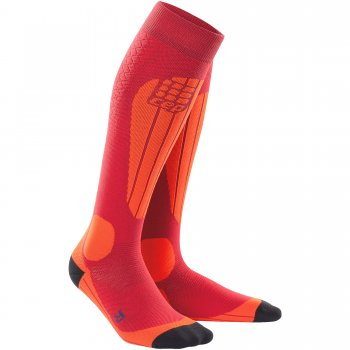 CEP Ski Thermo Compression Socks Herren | Cranberry Orange