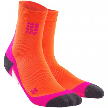 CEP Run 2.0 Short Cut Compression Socks Damen | Sunset Pink