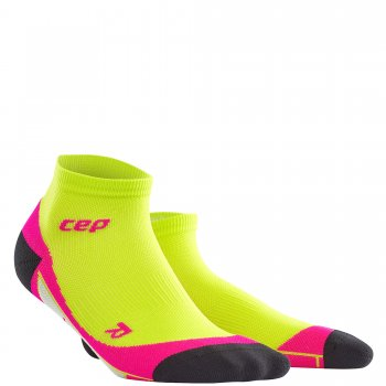 CEP Run 2.0 Low Cut Compression Socks Damen | Lime Pink