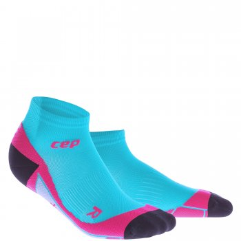 CEP Run 2.0 Low Cut Compression Socks Damen | Hawaii Blue Pink