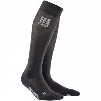 CEP Outdoor Light Merino Compression Socks Herren | Lava Stone