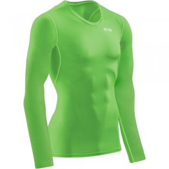 CEP Wingtech Compression Long-Shirt Herren | Viper Green