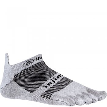 Injinji Run Lightweight No Show Zehensocken | Dünn | Grau
