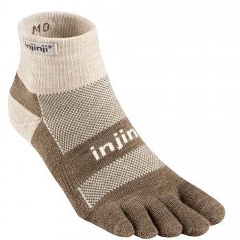 Injinji Outdoor Midweight Mini Crew Zehensocken | Dick | Braun