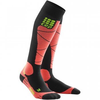 CEP Ski Merino Compression Socks Herren | Black Coral