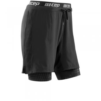CEP Training 2-in-1 Short Herren | Black