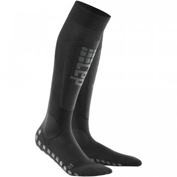 CEP Ski Griptech Compression Socks Herren | Black Anthracite