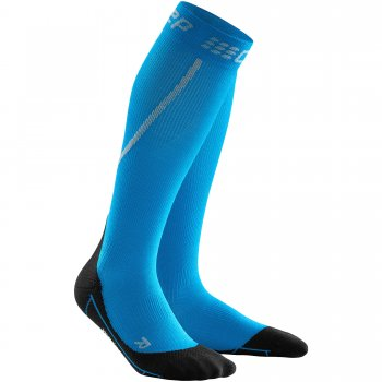 CEP Run Winter Compression Socks Herren |  Electric Blue Black