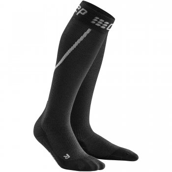 CEP Run Winter Compression Socks Herren | Grey Black