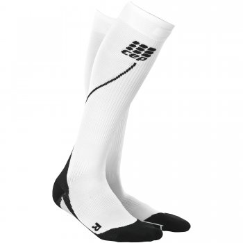 CEP Run 2.0 Compression Socks Herren | White Black