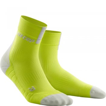 CEP Run 3.0 Short Cut Compression Socks Herren | Lime Light Grey