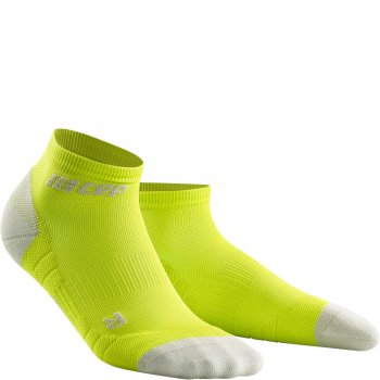 CEP Run 3.0 Low Cut Compression Socks Herren | Lime Light Grey
