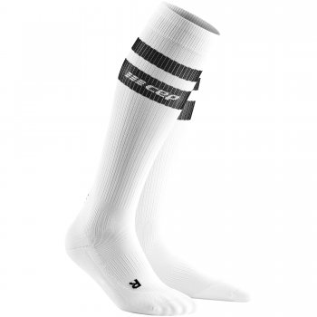 CEP Run 3.0 - 80's Compression Socks Herren | White Black