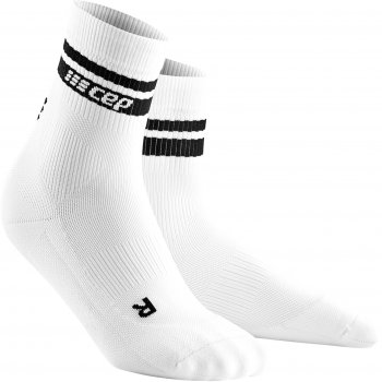 CEP Run 3.0 - 80's Compression Mid Cut Socks Herren | White Black