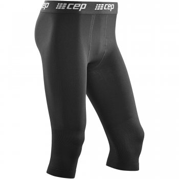 CEP Ski Base Compression 3/4 Tight Herren | Black