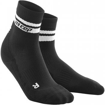 CEP Run 3.0 - 80's Compression Mid Cut Socks Herren | Black White