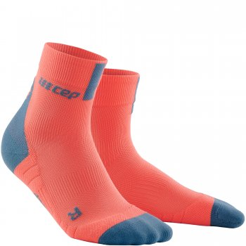 CEP Run 3.0 Short Cut Compression Socks Damen | Coral Grey
