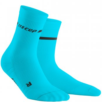 CEP Run 3.0 Neon Mid Cut Compression Socks Herren | Neon Blue