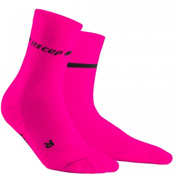 CEP Run 3.0 Neon Mid Cut Compression Socks Damen | Neon Pink