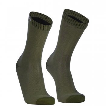 DexShell Ultra Thin Crew Socks | Wasserdicht | Oliv