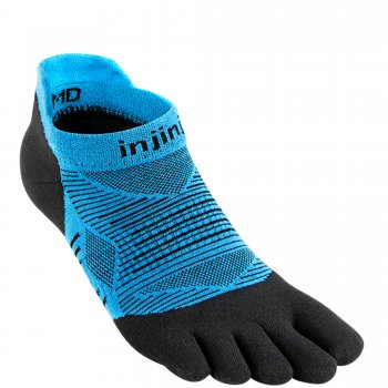 Injinji Run Lightweight No Show Zehensocken | Dünn | Blau