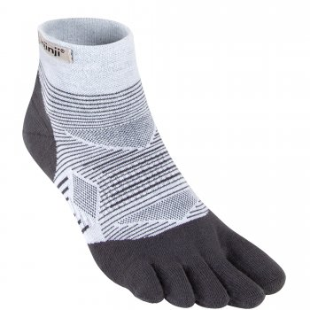 Injinji Run Lightweight Mini-Crew Zehensocken | Dünn | Grau