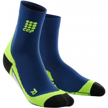 CEP Run 2.0 Short Cut Compression Socks Herren | Deep Ocean-Green