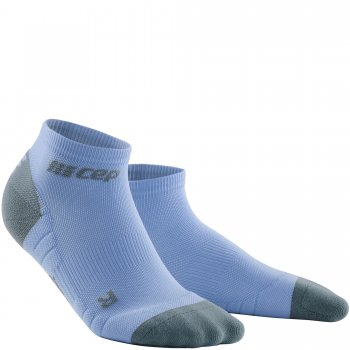 CEP Run 3.0 Low Cut Compression Socks Damen | Sky Grey Purple