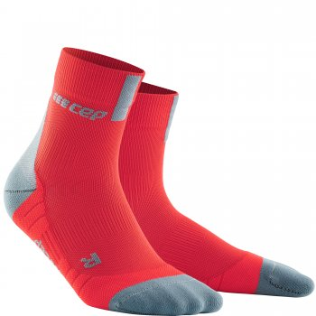 CEP Run 3.0 Short Cut Compression Socks Herren | Lava Grey