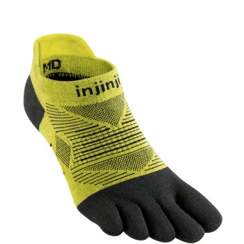 Injinji Run Lightweight No Show Zehensocken | Dünn | Gelb