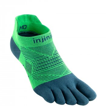 Injinji Run Lightweight No Show Zehensocken | Dünn | Grün